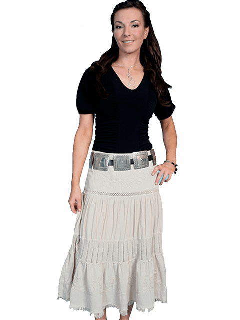 Scully Cowgirl Full Skirt Khaki