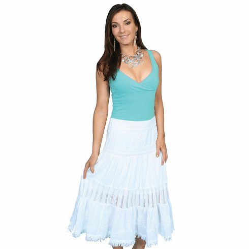 Scully Cowgirl Full Skirt White