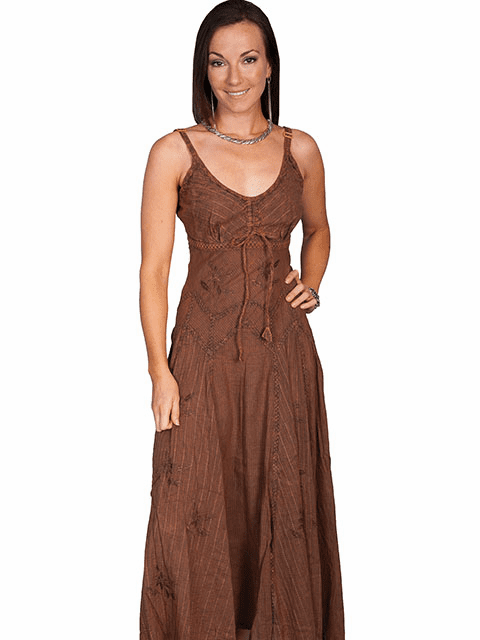 Scully Cowgirl of the West Spaghetti Strap Copper