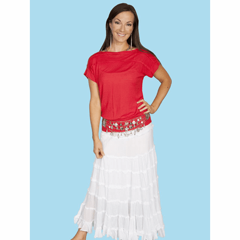 Scully Cowgirl Skirt - White
