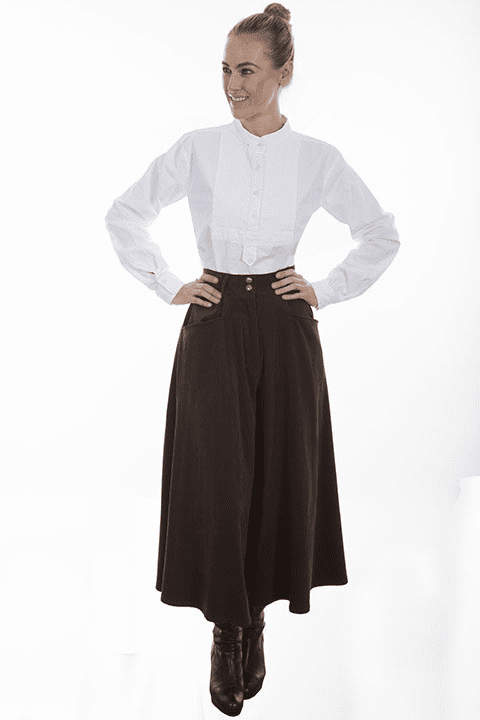 Scully Cowgirl Split Skirt Brown