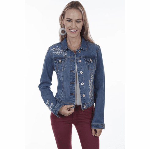 Scully Denim Leaf Design Classic Jacket