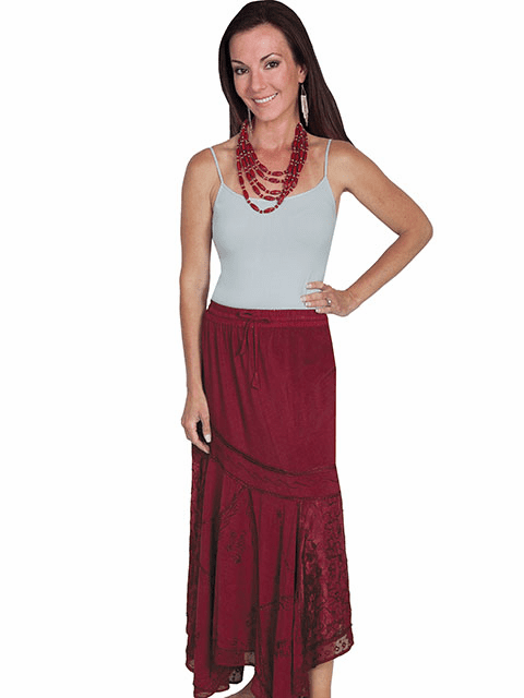 Scully Desert Air Skirt - BURGUNDY