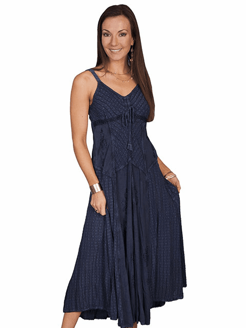 Scully Desert Cowgirl Dress Blue