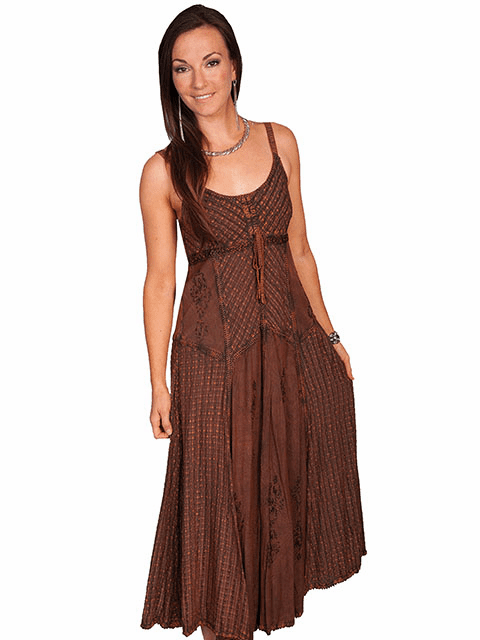 Scully Desert Cowgirl Dress Copper