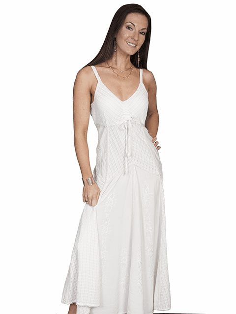 Scully Desert Cowgirl Dress Ivory