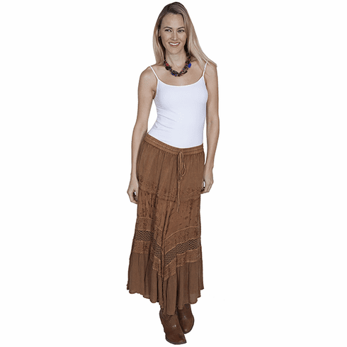 Scully Dramatic Flair Skirt Beige