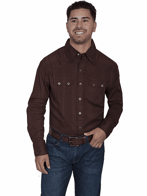 Scully Dumas Dobby Stripe Western Shirt