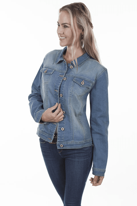 Scully Embroidered Jean Jacket (Backside) S-XL