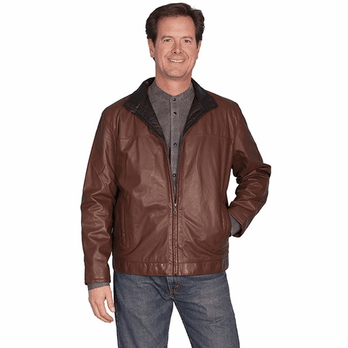 Scully Fine Leather Men's Jacket - Brown