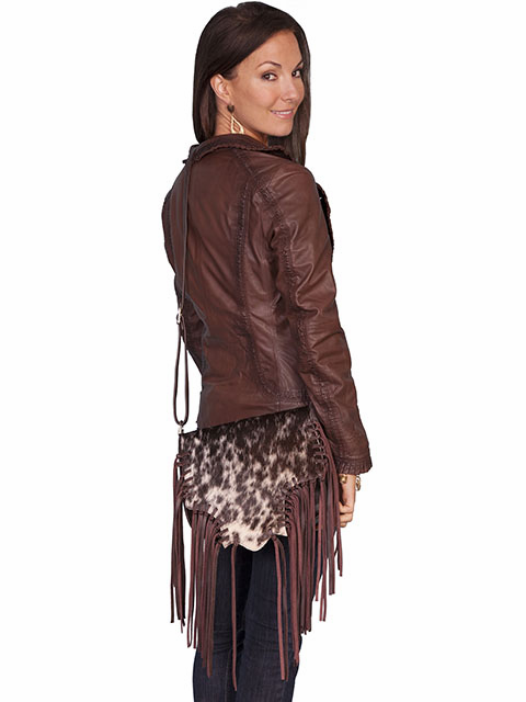 Scully Flashy Fringe Cowgirl Leather Purse