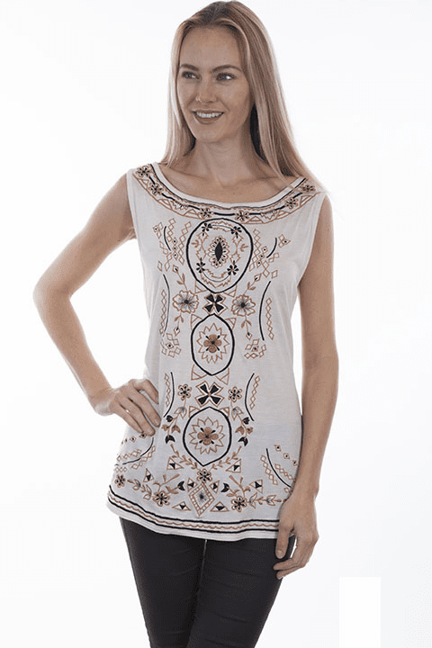 Scully Floral Tank Ivory