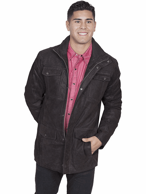 Scully Frontier Leather Jacket Brown