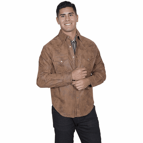 Scully Frontier Leather Shirt Jacket Maple
