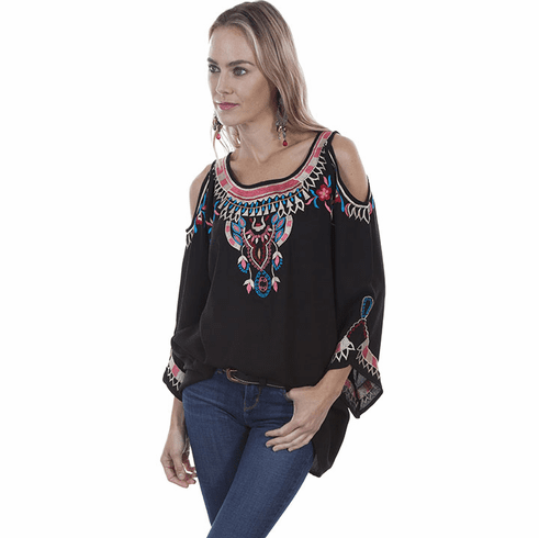 Scully Georgette Style Top Black