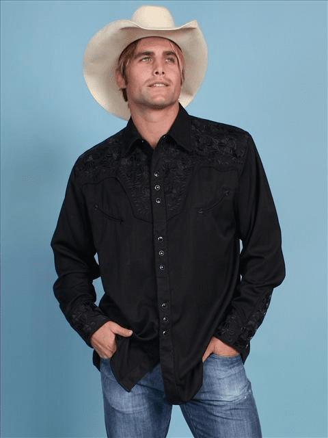 Scully Gunfighter Western Shirt Black