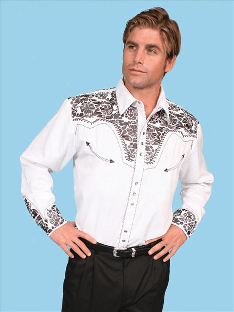 Scully Gunfighter with Embroidery Shirt