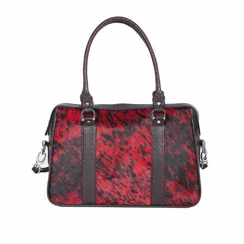 Scully Hair on Calf Handbag Red