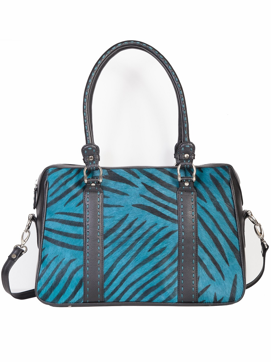 Scully Hair on Calf Handbag Turquoise