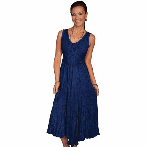 Scully Lace Up Front Dress Blue*