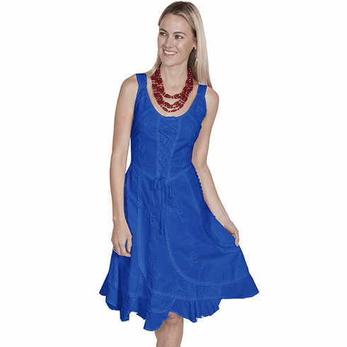 Scully Lace-up Front Dress Dazzling Blue XS-XXL