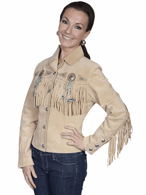 Scully Ladies Boar Suede Fringe & Beaded Jacket*