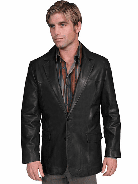 Scully Lambskin Blazer Black