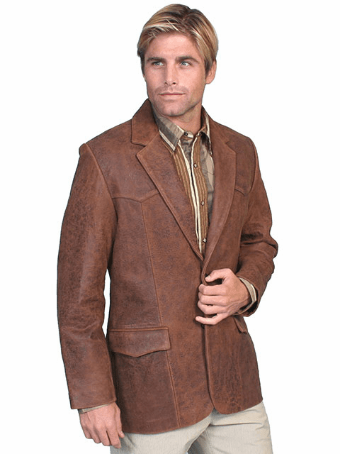 Scully Lambskin Blazer Brown