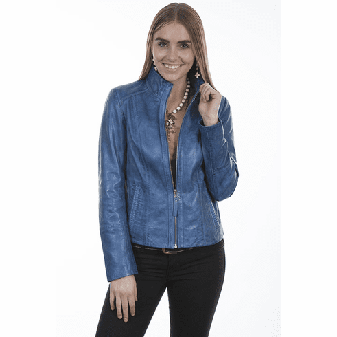 Scully Leather Light Weight Jacket Denim