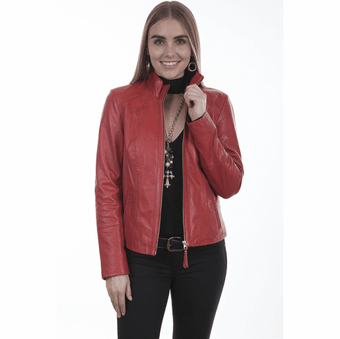 Scully Leather Light Weight Jacket Red