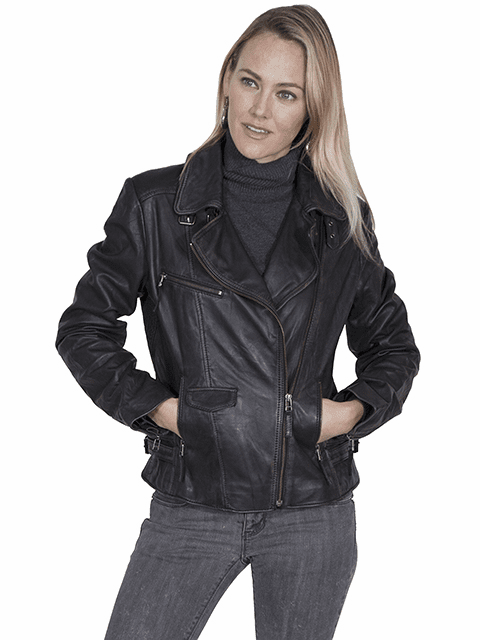 Scully Leather motorcycle jacket Black