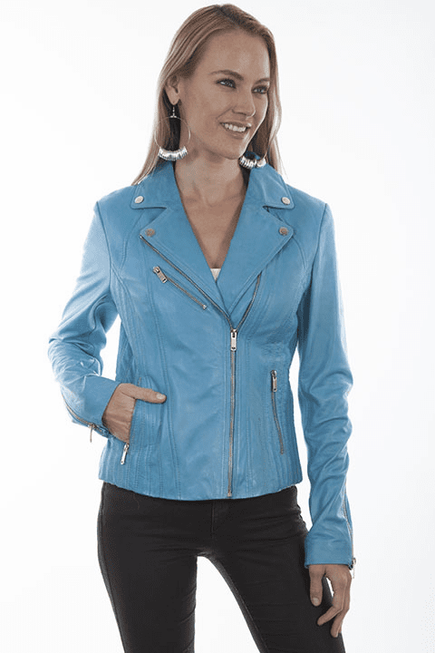Scully Leather Motorcycle Jacket Sky