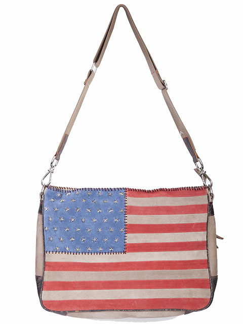 Scully Leathers Suede Flag Purse