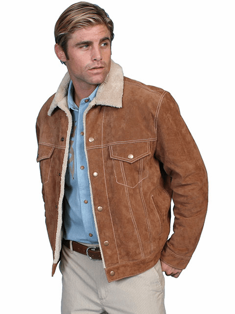 Scully Mens Boar Suede Leather Jean Jacket Style