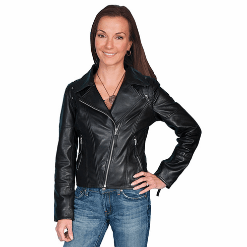 Scully Motorcycle Leather Jacket Black
