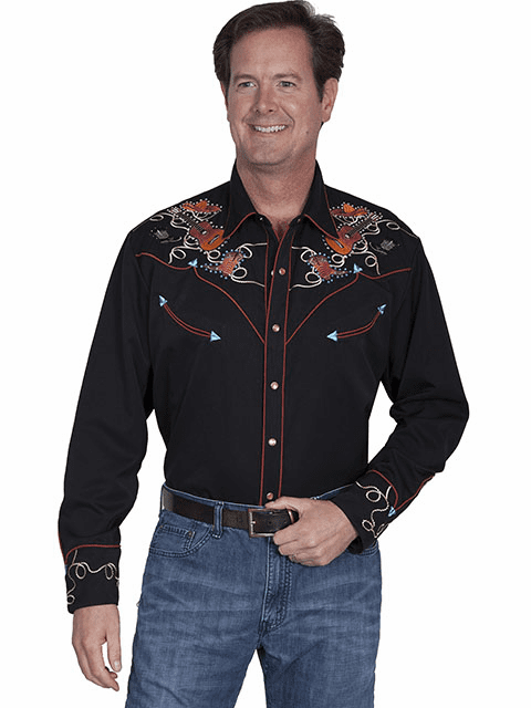 Scully Nashville Western Shirt Black*