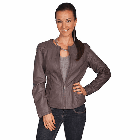 Scully Night Life Leather Jacket Grey