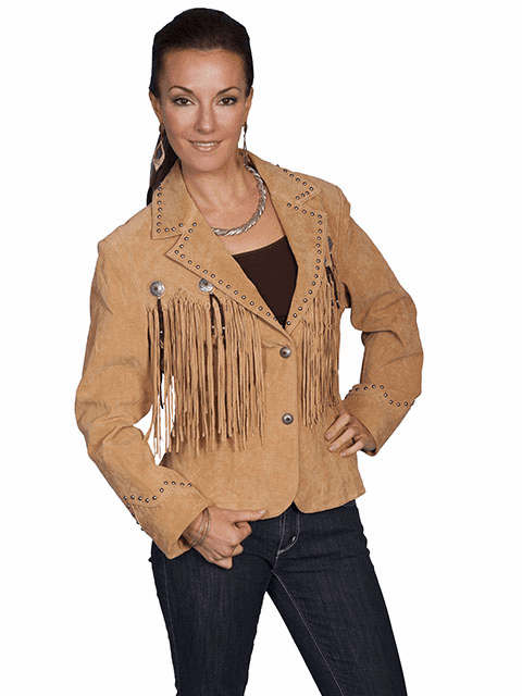 Scully Outlaw Cowgirl Fringe Jacket - Old Rust