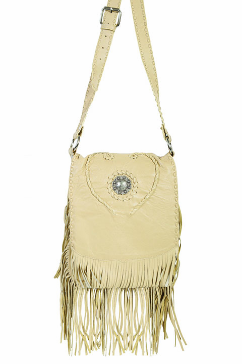 Scully Payson Leather Fringe Purse