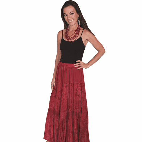 Scully Pioneer Long Skirt BURGUNDY S-2X