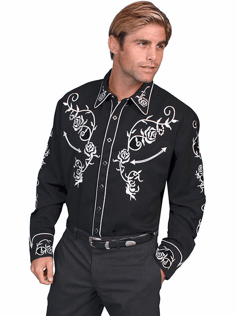 Scully Ponderosa Western Shirt - Black