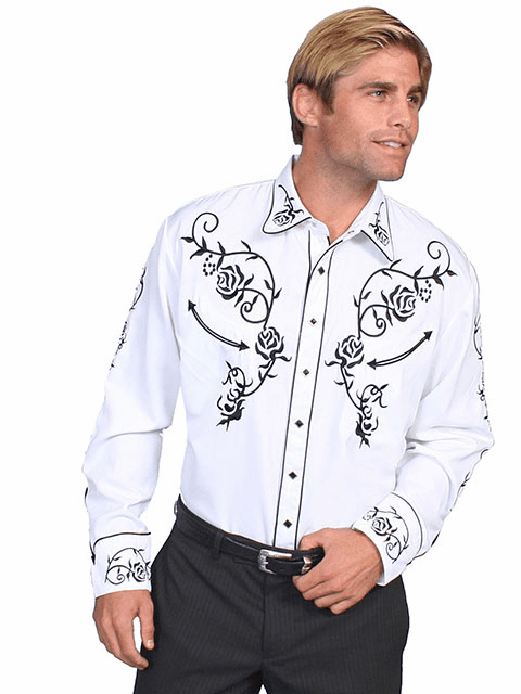 Scully Ponderosa Western Shirt - White
