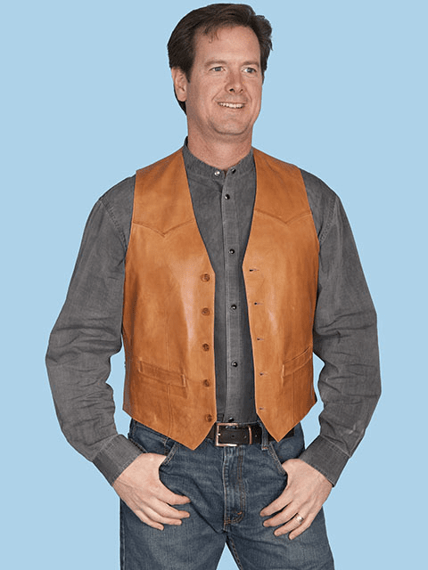 Scully Rancher Leather Vest - Rancher Tan