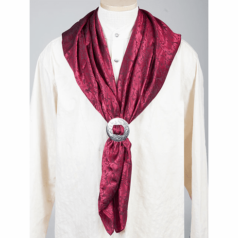 Scully Rangewear Mens  BURGUNDY 100% Silk Bandana Scarf