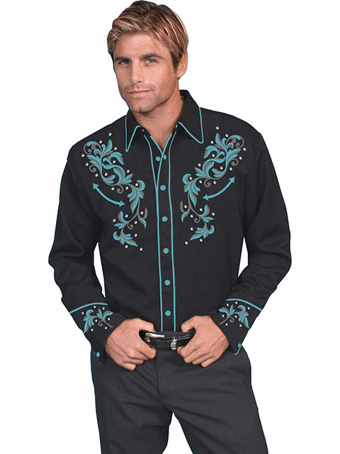 Scully Reno Nights Western Shirt Black