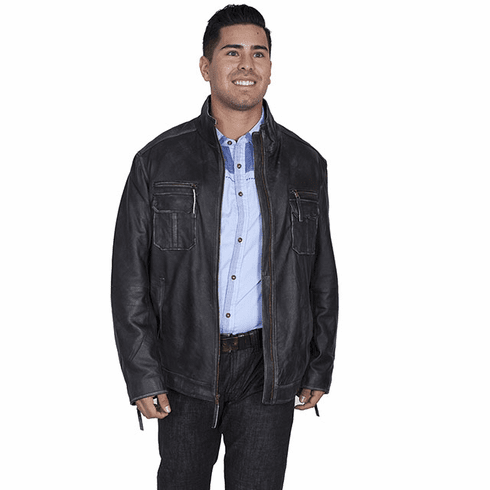 Scully Ridge Leather Jacket Charcoal
