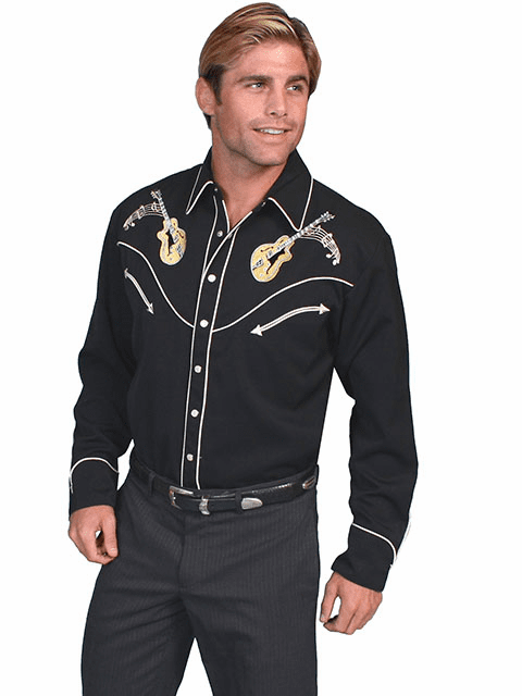 Scully Rock N Roll Vintage Shirt Black**