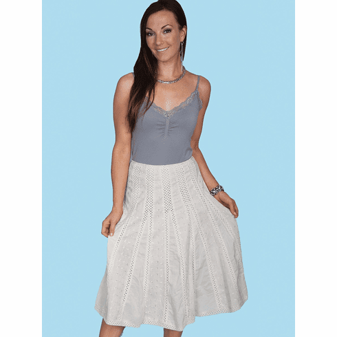 Scully's LuLu Summer Skirt Ivory