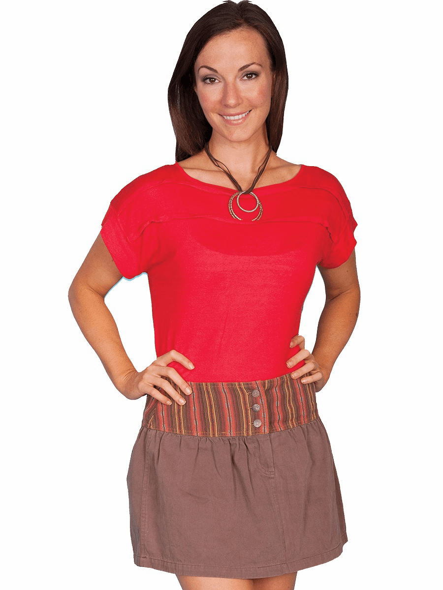 Scully Serape Waist Skirt