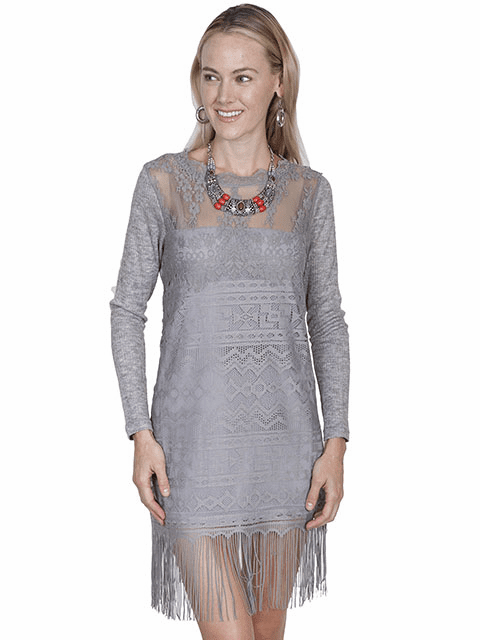 Scully Sophisticated lace dress Grey